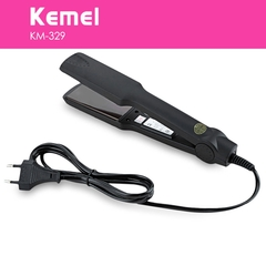 Kemei KM - 329 Professional Hair Straightener Tourmaline Ceramic Heating Styling Tool black 30cm
