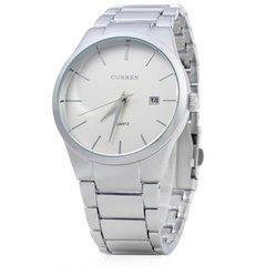 Curren 8106 Men Quartz Watch Sport Mountaineers Dedicated Wristwatch sliver normal size