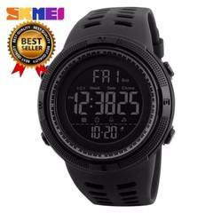 SKMEI 1251 Sports Digital 50M Waterproof Alarm Wristwatch men women fashion watch black normal size
