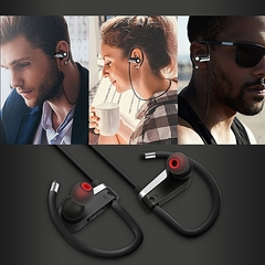 C6 Wireless Stereo Earbuds Headset With Bluetooth & Microphone black