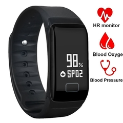 2EST Store Smart Bracelet  F1 Plus Watches Blood Pressure Podometre  Bracelet Smart Watch BLACK NORMAL SIZE