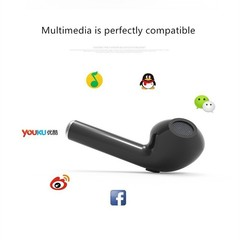 i7S TWS Twins Bluetooth V4.2 Wireless Earphone With Charger Bluetooth Accessories black one size