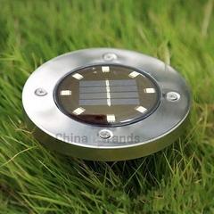 8 LED Solar Lawn Light Decor Lighting white light 12.00 x 12.00 x 14.00 cm 2V