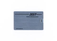 2est sliver Metal Card flash drive flash disk 32GB USB 2.0 Suitable for computers sliver 2est 32gb