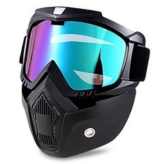 ROBESBON MT - 009 Motorcycle Goggles with Detachable Mask and Mouth Filter Harley Style Protect Padding Helmet Sunglasses