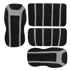 TIROL T25282 Universal Full Car Front Back Seat Covers Protective Cushion