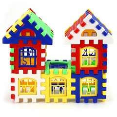 Children DIY House Building Blocks Construction Brain Development Toy