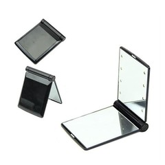 Portable Fantastic LED Lights Folding Cosmetic Mirror Hot Selling Compact Pocket Makeup Looking Glass