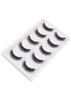 Multifunctional 5Pcs Natural Looking Volumizing Mink False Eyelashes