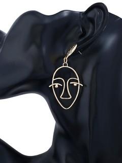 Geometric Face Hollow Stud Earrings
