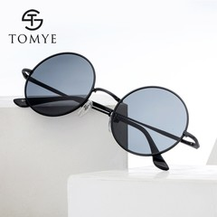 TOMYE G103 Metal Round Frame Unisex Polarized Sunglasses