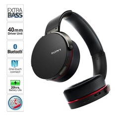 MDRXB950BT Extra Bass Bluetooth Headphone subwoofer headset black black