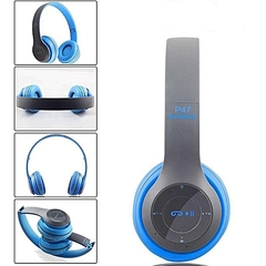 2EST P47 Folding WIFI Wireless Bluetooth 4.1 Headphones Headset earphone earphones blue