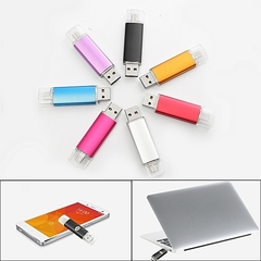 2EST 2 In 1 Micro USB 2.0 32GB FLASH DRIVE Memory Stick For OTG Smart Phone Tablet PC sliver 2est 32gb