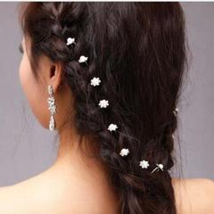 20pcs Wedding Bridal Pearl Flower Rhinestone Hair Pins Clips Bridesmaid