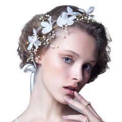 Pearl Bead Flower Bridal Wedding Headwear Handmade Hair Accessories