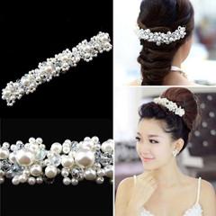 New Crystal Faux Pearl Flower Wedding Party Bridal Headband Hair Band