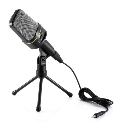 Yanmai Condenser Sound Microphone with Stand for PC Laptop Skype Recording