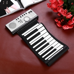 Flexible 61 Keys Silicone MIDI Digital Roll-up Keyboard Piano