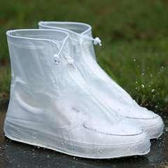 HIKING TOP 1 Pair Waterproof Dot Zipper Rain Shoes Cover Boots PVC Reusable Bike Protector