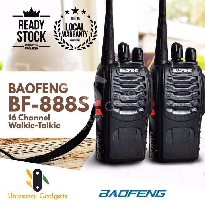 Rechargeable 2Pcs/Set  Walkie-talkie For Baofeng BF-888S VHF/UHF FM Transceiver Radio black black