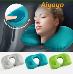ROMIX RH34 U-shaped Travel Neck Air Rest Pillow Foldable Plane Driving Airplane Car Office Green