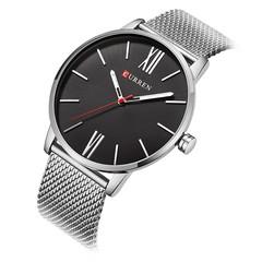 CURREN 8238 Quartz Casual Business Slim Mesh Men's Watch