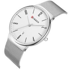 CURREN Men's Slim Calendar Watch Casual Net with Watch