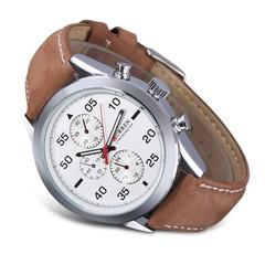 CURREN 8156 Men's Quartz Watch Round Dial Leather Strap Outdoor