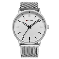 CURREN Men's Steel Belt Business Fashion Simple Milan with Quartz Watch