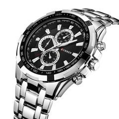 CURREN  Stainless Steel Strap Fashion Men'S Quartz Watch