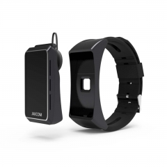 Smart Bracelet + Bluetooth headset Multi function heart rate monitoring and waterproofing black one size