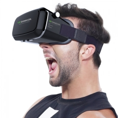 The upgraded VR headset has 3D adjustable focus+Free bass bluetooth headset white one size