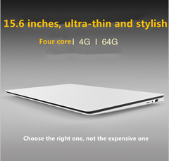 15.6-inch laptop 1080P Ultra-thin fashion computer 2GB+32GB/4GB+64GB SSD white 15.6 2+32GB
