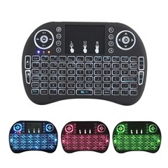 MINI i8 colors backlit wireless keyboard air mouse 2.4G black one size