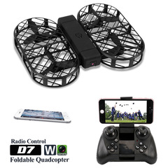 DWI folding remote control helicopter Drone 720P aerial shot of quadcopter black 480P