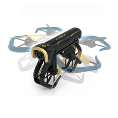 YADE XT-5 foldable drone HD 720P picture back quad camera Remote-controlled toy aircraft black 720p