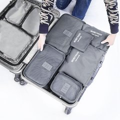 6 Pcs/Set Square Travel Luggage Storage Bags Clothes Organizer Pouch Case Gray