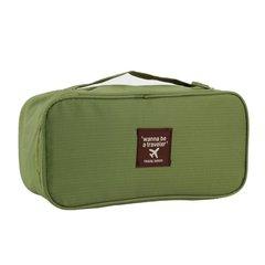 Portable Protect Bra Underwear Lingerie Case Travel Organizer Bag Waterproof Storage Case Green