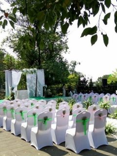 Elastic chair covers for wedding celebration hotels white