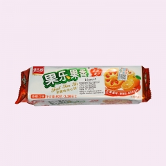 Chinese Snack Fruity Sandwich Biscuit ,Pineapple flavor 93g