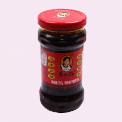 LAO GAN MA  Chili Black Sauce Flavored Cardamom Oil Chili 280g Cardamom Sauce Spicy Sauce Bean Paste