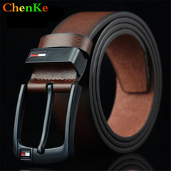 ChenKe Luxury leather belt men's belts men's jeans retro black wide strap belt strap brown brown uniform code