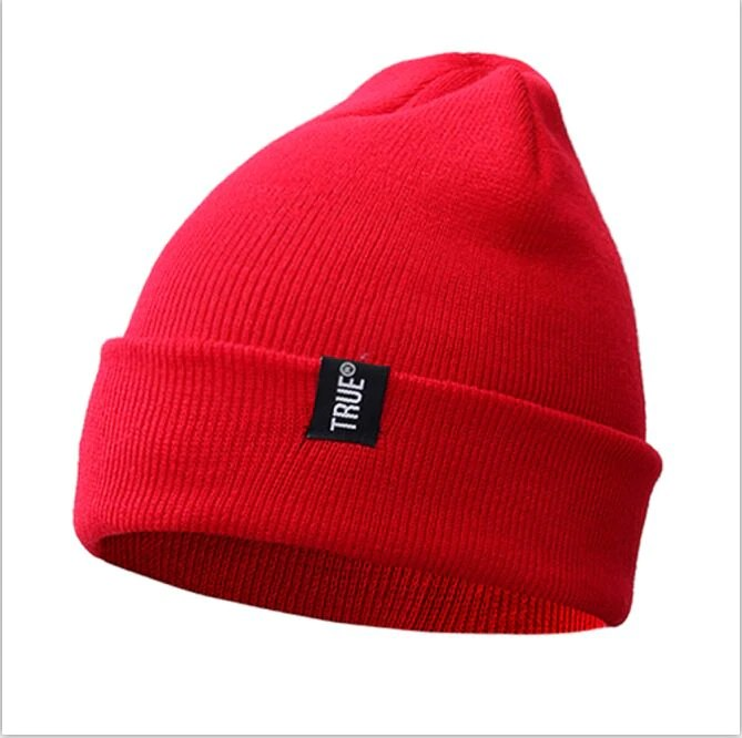 cf054a6052a True Casual Beanies for Men Women Fashion Knitted Winter Hat Solid Color Hip-hop  Skullies