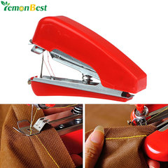 Handheld Mini Sewing Machine Manual Portable Home Needlework Machine Cloth Fabric Stitch Accessorie red normal