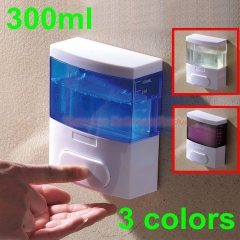 300ml ABS Plastic Hand Liquid Soap Dispenser Lotion Dispenser Shampoo Dispenser Shower Gel Dispenser Ocean Blue wall mounted
