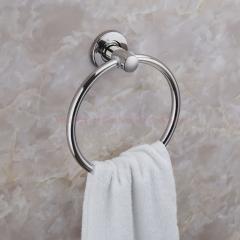 Home Decor Bathroom Fittings Stainless Steel Towel Ring Towel Holder Towel Rack Towel Bar mirror finish Round