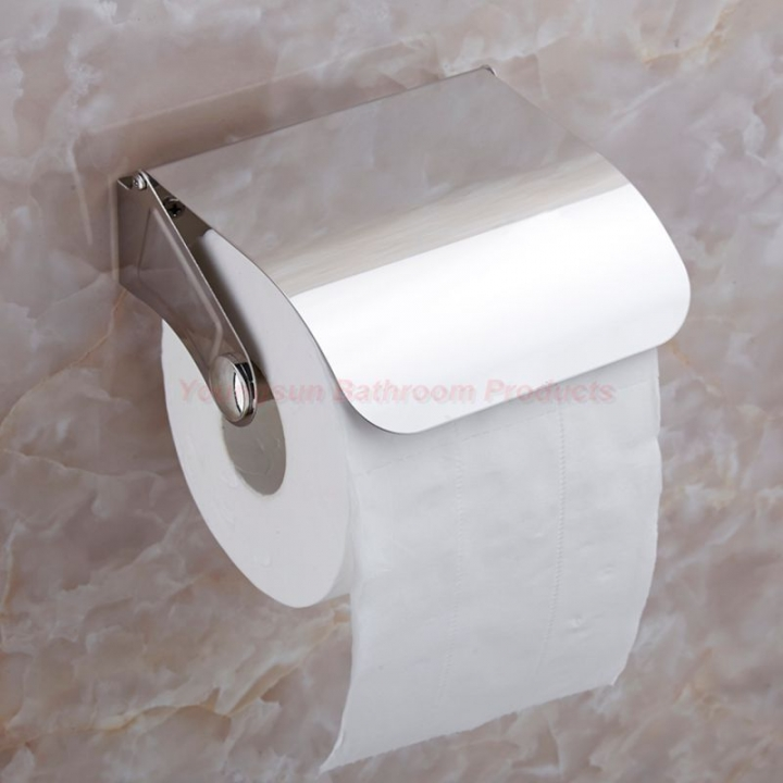 Cheap Bathroom Accessories Stainless Steel Toilet Roll Tissue Dispenser Toilet Paper Holder mirror finish wall mounted