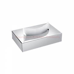 Good Quality Home Use and Hotel Small Size Stainless Steel Table Tissue Box Napkin Holder Mirror Finish