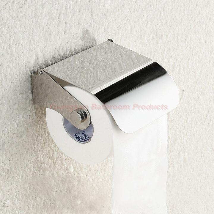 European Style Bathroom Items Stainless Steel Toilet Paper Dispenser Toilet Tissue Paper Holder mirror finish wall mounted